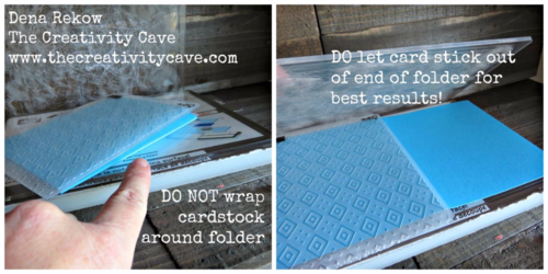 Embossing Folder Tips for the Big Shot--video on my blog!