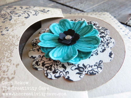 Fun and easy card using Stampin Up's Circle Card Thinlits--awesome video with tips on my blog!