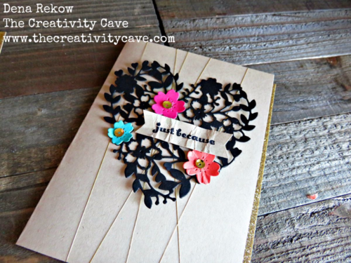 Beautiful pop of color on the Bloomin Heart Thinlits from Stampin Up!  Video on my blog!