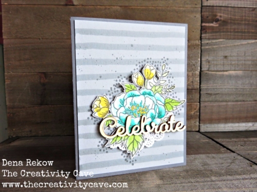 Gorgeous Birthday Blooms Card using Stampin Up's Birthday Blooms Stamp set and watercoloring.