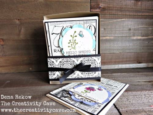 Easy to create Boxed Set of Cards made with Stampin Up's Flowering Fields Stamp set. Video tutorial on my blog with lots of great tips!