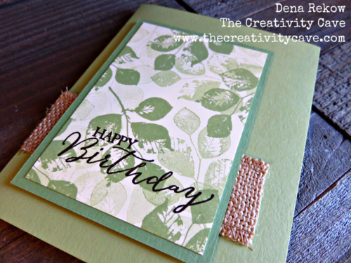 Create a quick and easy Masculine Card using Stampin Up's Kinda Eclectic stamp set!  Video on my blog along with a second version!