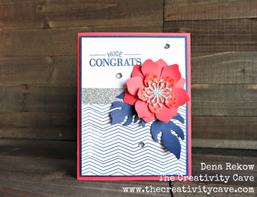 Video tutorial for this Fabulous floral card using Stampin Up's Fun Flower Punch and Botanical Blooms Builder Framelits!