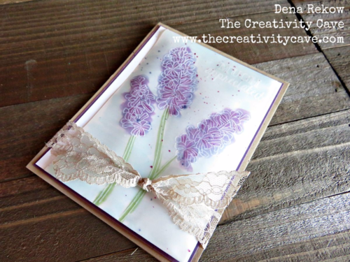 Check out all the awesome Vellum projects in my Friday Quickie Video tutorial featuring Stampin Up's Helping Me Grow Stamp Set