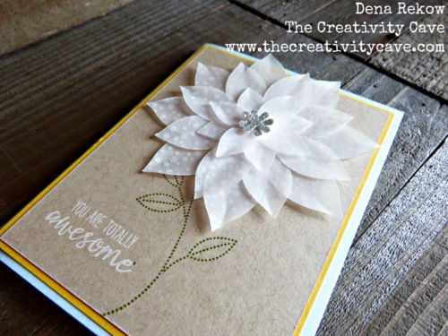 Check out all the awesome Vellum projects in my Friday Quickie Video tutorial featuring Stampin Up's Botanical Garden Vellum Stack