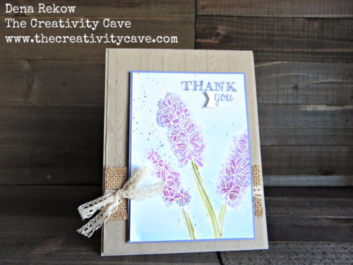 Beautiful Card using Helping Me Grow Stamp set from Stampin Up.  Video on my blog!