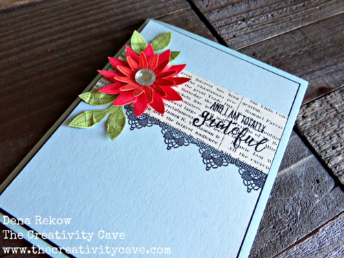 Check out the video tutorial on how easy it is to make this gorgeous card using Stampin Up's Grateful Bunch on my blog!