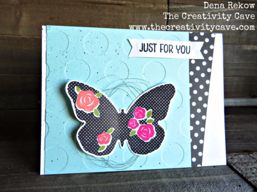 Check out the video tutorial on my blog for this gorgeous card using Stampin Up's Floral Wings Set on my blog--great tips included!