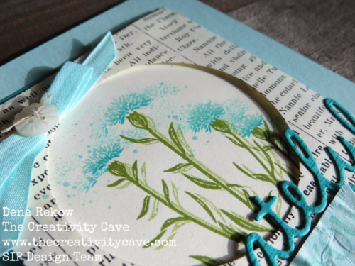 Great Video tutorial for making this Grateful For You card using Stampin Up's Wild About Flower stamp set and Seasonal Frame Thinlits