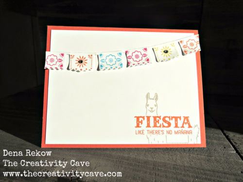 Check out the video tutorial on this fun card using Stampin Up' Birthday Fiesta Stamp Set and coordinating framelits on my blog, www.thecreativitycave.com #stampinup #thecreativitycave #birthdayfiesta #llama #cardmaking #handmade #create