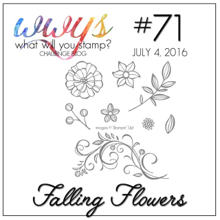 Check out the video on my blog for my take on this beautiful, fun set from Stampin Up, Falling Flowers.  www.thecreativitycave.com