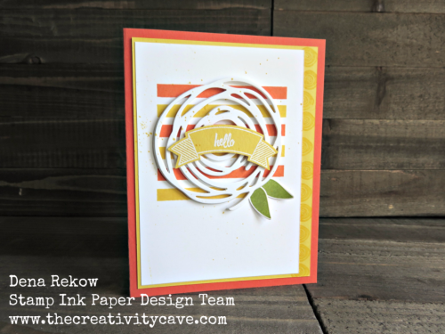 Video tutorial with awesome tips on my blog (www.thecreativitycave.com) with great tips and step by step tutorial on how to create this fun card!  #sipchallenge #stampinup #thecreativitycave #swirlybird #thoughtfulbanners #hello #handmade #create