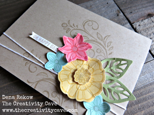 Wwysfallingflowers 2Video tutorial on making this awesome, easy card using Stampin Up's Falling Flowers Bundle on www.thecreativitycave.com #stampinup #thecreativitycave #fallingflowers #handmade