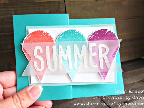 Fun Video on my blog showing how easy this card is to create with a fun fold and Stampin Up's Summer Sorbet and Layered Letters Stamp Sets: www.thecreativitycave.com #stampinup #zfold #thecreativitycave #summersorbet #ombrepads #layeredletters #handmade
