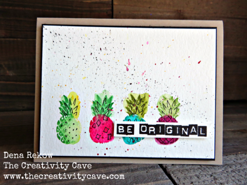 Awesome video on my blog to show you how easy this card is to create using Stampin Up's Pop of Paradise and Labeler Stamp Sets! www.thecreativitycave.com #stampinup #thecreativitycave #popofparadise #watercolor #labeleralphabet