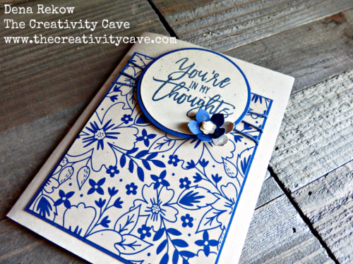 Great video for making this gorgeously simple card using Stampin Up's Thoughtful Branches Stamp Set and Affectionately Yours Designer Series Paper on my blog at www.thecreativitycave.com #stampinup #thecreativitycave #thoughtfulbranches #handmade