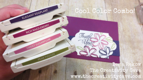 Awesome Color Combo for this fun card (including a video tutorial on my blog) at www.thecreativitycave.com #stampinup #colorcombo #thecreativitycave