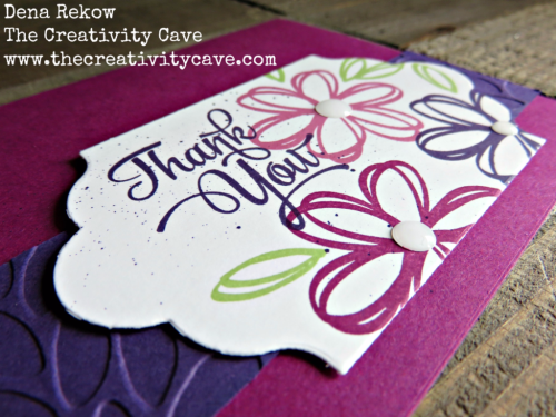 Check out the fun and quick video for this awesome card using Stampin Up's Sunshine Sayings Stamp Set on my blog at www.thecreativitycave.com #stampinup #thecreativitycave #videotutorial #sunshinesayings