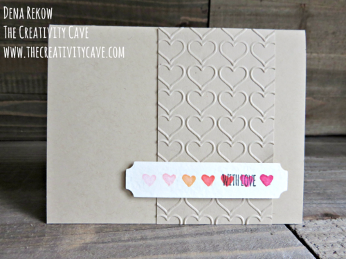 "Check out this week's Friday Quickie Video on the ""faux watercolor"" technique using Stampin Up's Endless Thanks Stamp sets on my blog at www.thecreativitcave.com #stampinup #thecreativitycave #fauxwatercolor #watercolortechniques"