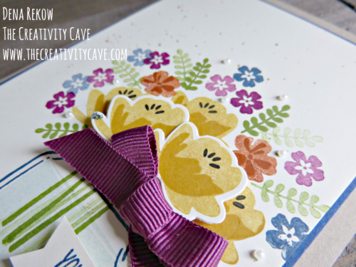 Check out the awesome video on my blog with great tips to create this beautiful fall-inspired flower bouquet at www.thecreativity... using Stampin Up's Jar of Love stamp set #stampinup #thecreativitycave #jaroflove #handmade