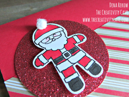 Adorable video for this super cute card on my blog using Stampin Up's Cookie Cutter Christmas Stamp set and Punch at www.thecreativitycave.com #stampinup #thecreativitycave #handmade #onlineclasses