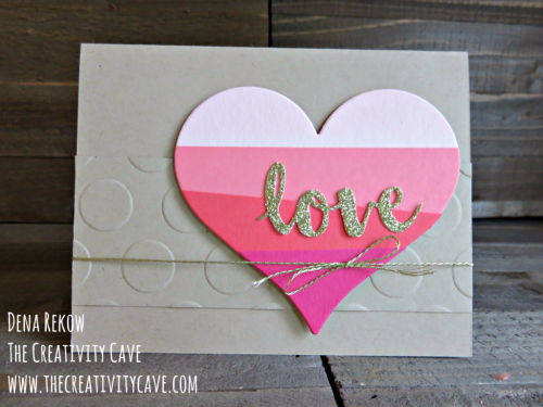 Fun video on this simple but pretty card using Stampin Up's Sunshine Wishes Framelits on my blog, www.thecreativitycave.com #stampinup #sunshinewishes #love