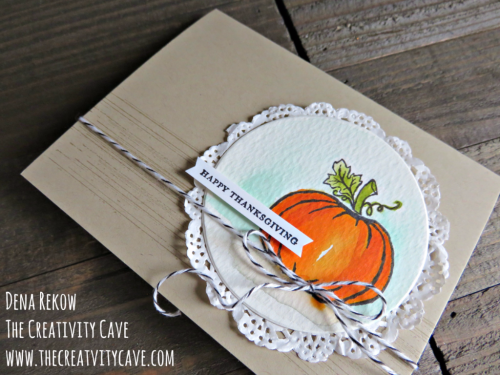 Fantastic Video Tutorial for making this gorgeous watercolored card using Stampin Up's Jar of Haunts Stamp set on my blog, www.thecreativitycave.com #stampinup #jarofhaunts #thecreativitycave