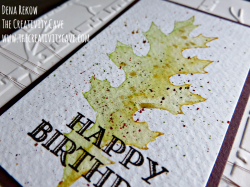 Check out the awesome video tutorial for this gorgeous Faux Watercolored Card using Stampin Up's Vintage Leaves Stamp Set on my blog www.thecreativitycave.com #stampinup #thecreativitycave #vintageleaves #handmade