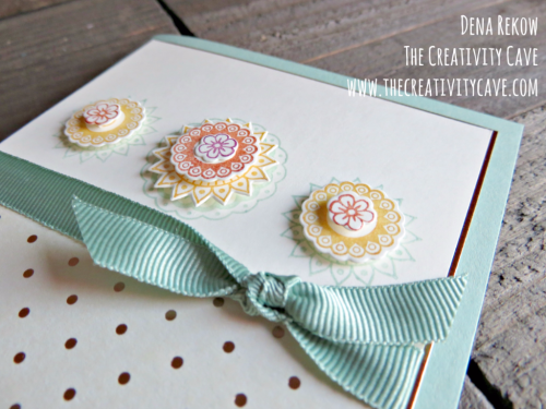 Check out the awesome video tutorial (and other version of this card) on my blog with Stampin Up's Paisleys and Posies Stamp Set and coordinating framelits at www.thecreativitycave.com #stampinup #thecreativitycave #handmade #paisleysandposies