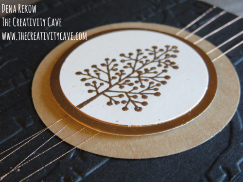 Great video on this stunning card using Stampin Up's Totally Trees Stamp set and Woodland Embossing folder with touches of copper on my blog at www.thecreativitycave.com #stampinup #thecreativitycave #totalytrees #copper