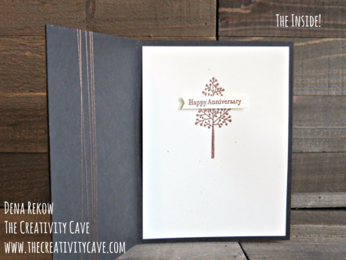 """Check out the outside of this """"inside"""" on my blog, complete with a video tutorial at www.thecreativitycave.com #stampinup #thecreativitycave #toallytrees"""
