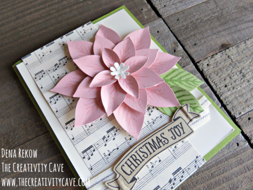 Check out the video tutorial filled with amazing tips for creating this stunning card using Stampin Up's Reason for the Season stamp set and coordinating Festive Flower Builder Punch on my blog at www.thecreativitycave.com #stampinup #thecreativitycave #reasonfortheseason