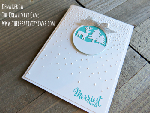 Wonderful Video for this very simple, yet gorgeous card on my blog, www.thecreativitycave.com #stampinup #thecreativitycave #Christmas #MerriestWishes