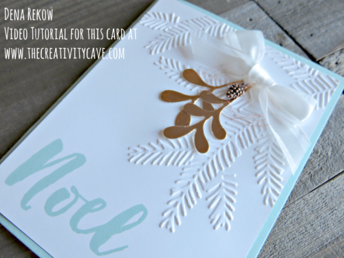 Wonderful Video Tutorial for this awesome card on my blog at www.thecreativitycave.com using Stampin Up's Christmas Pines Stamp Set and coordinating framelits--plus I have an online class for this set, too! #stampinup #thecreativitycave #christmaspines #onlineclass