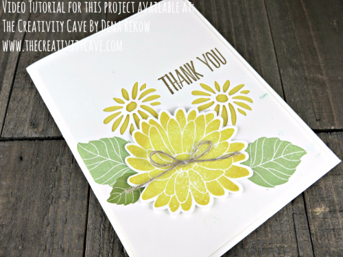 Check out the video tutorial for this adorable, happy card using Stampin Up's Special Reason Stamp set and coordinating Stylish Stems Framelits on my blog: www.thecreativitycave.com #stampinup #thecreativitycave #specialreason