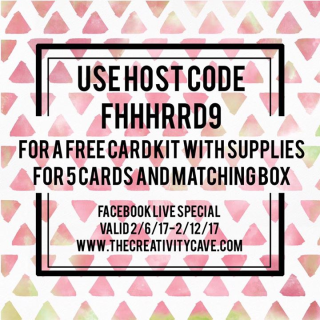 Check out the special offer that goes with the FB Live Video from FEB 6th, 2017 at www.thecreativitycave.com #stampinup #thecreativitycave #rubberstamping #freecardkit