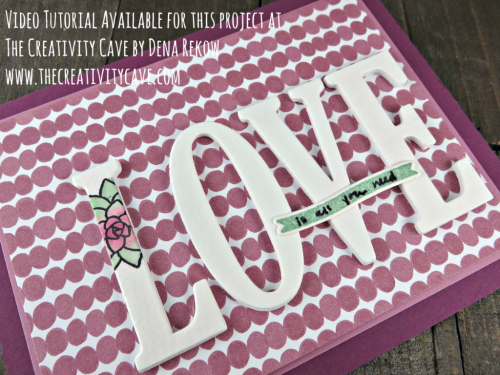 Great VIdeo Tutorial for this beautiful cad with great tips using Stampin Up's Oh So Succulent Stamp Set and Letters for You Bundle on my blog: www.thecreativitycave.com #stampinup #thecreativitycave #ohsosucculent #bigletters #lettersfor you