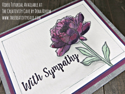 Join me as I teach you how to create this gorgeous watercolored Sympathy Card using Stampin Up's You've Got This and Better Together Stamp Sets on my blog: www.thecreativitycave.com #stampinup #thecreativitycave #watercolor #bettertogether #youvegotthis