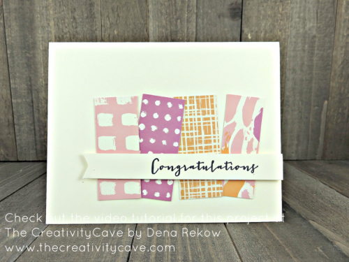 Check out the video tutorial which includes this and several more cards perfect for spring on my blog: www.thecreativitycave.com #stampinup #playfulpalettedsp #quickandeasy