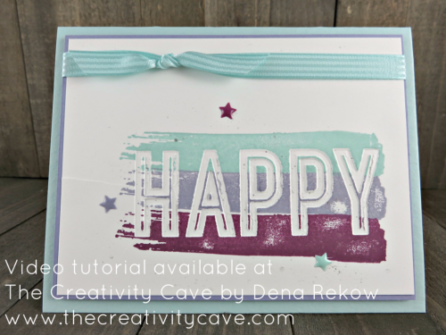 Check out the video tutorial for this amazing project and more on my blog: http://www.thecreativitycave.com/my_weblog/2017/04/facebook-live-april-3-2017-happy-celebrations-and-happy-flowers.html using Stampin Up's Happy Celebrations #stampinup #thecreativitycave #happycelebrations