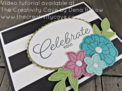 Check out the video tutorial for this amazing project and more on my blog: http://www.thecreativitycave.com/my_weblog/2017/04/facebook-live-april-3-2017-happy-celebrations-and-happy-flowers.html using Stampin Up's Falling Flowers Bundle #stampinup #thecreativitycave #fallingflowers #mayflowersframelits