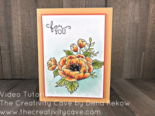 Check out my video tutorial filled with tips to teach you how to watercolor beautifully shaded images like this one using Stampin Up's Birthday Blooms Stamp set on my blog: www.thecreativitycave.com #stampinup #thecreativitycave #birthdaybloom #watercolor