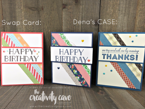 Check out my video tutorial featuring these and other swap cards plus how to CASE projects on my blog: www.thecreativitycave.com #stampinup #thecreativitycave #onstage2017