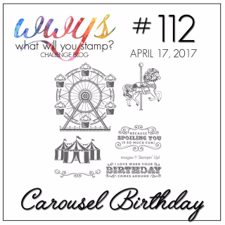 Check out my take on his set, including a video tutorial on my blog!! www.thecreativitycave.com #stampinup #carouselbirthday #thecreativitycave
