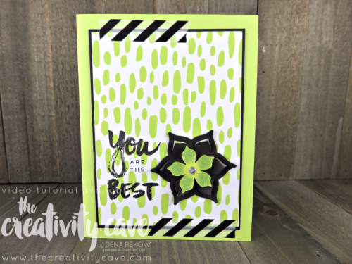 Check out the video tutorial for this and more alternative projects from April 2017's Paper Pumpkin Kit on my blog: www.thecreativitycave.com #stampinup #thecreativitycave #paperpumpkin