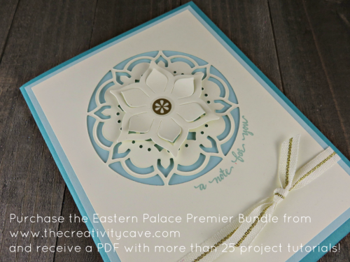 Check out the details of the FREE PDF tutorial (with 28 projects plus a FREE ONLINE class using the Eastern Palace Premiere Bundle. Order at www.thecreativitycave.com with host code XXWM76B4 today! #stampinup #easternpalacebundle #thecreativitycave #freeonlineclass