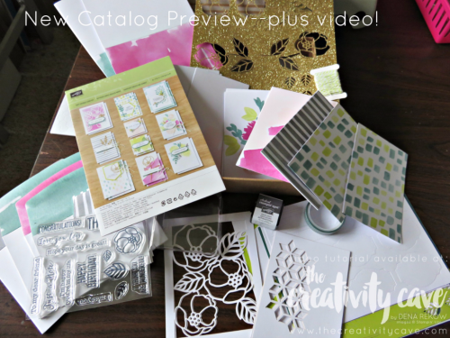 New Catalog Sneek Peeks!  Check out a whole bunch on my blog, www.thecreativitycave.com #stampinup #facebooklive #thecreativitycave #sneakpeek