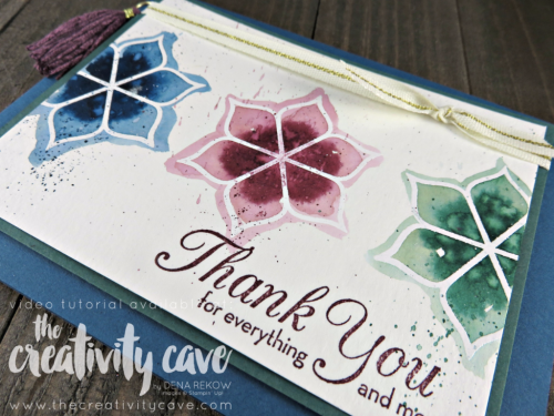 Join me as I teach you how to create this fun project using Stampin Up's Eastern Palace Premiere Bundle plus info on getting a 25 Project Tutorial for FREE plus there is also an online class!!  www.thecreativitycave.com #stampinup #easternpalacepremierebundle