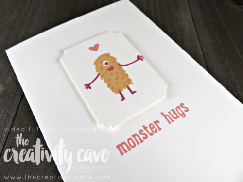 Join me as teach you how easy this card is to create using Stampin Up's Just Keep Swimming Stamp Set on my blog: www.thecreativitycave.com #thecreativitycave #stampinup #justkeepswimming #kidscards