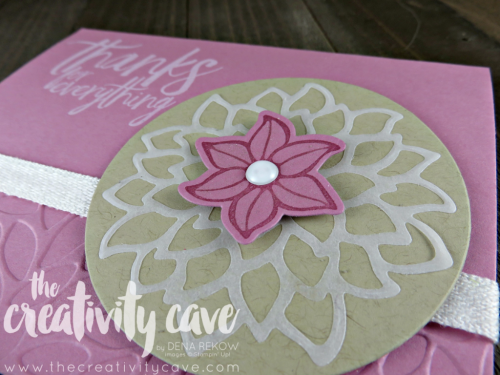 Check out the FB Live where I preview some projects from the upcoming 2017-18 Stampin Up Catalog and teach you some fun projects on my blog www.thecreativitycave.com #stampinup #thecreativitycave #fblive #fallingflowers #vellum